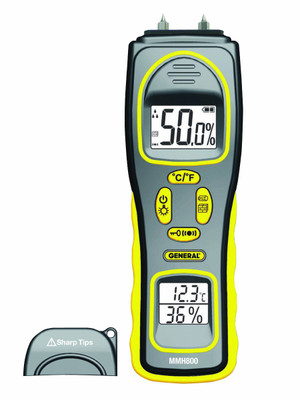 General Tools MMH800 4 in 1 Pin Pad RH Moisture Meter
