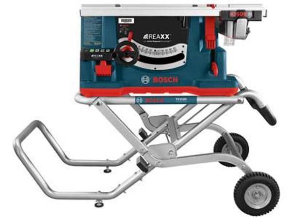 Bosch GTS1041A-09 10In REAXX Jobsite Table Saw With Active Response Technology And Stand