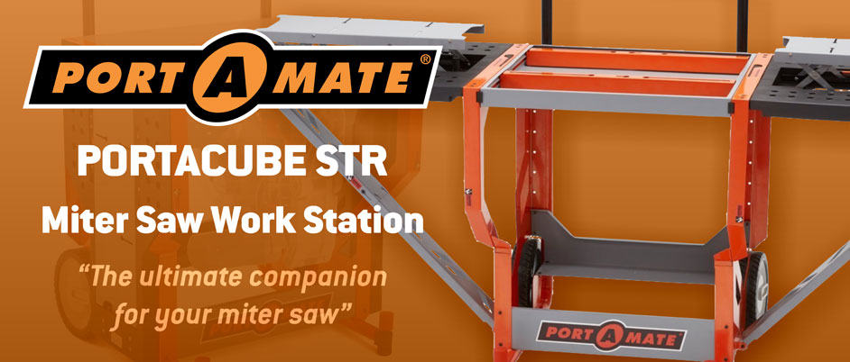 "Portamate Portacube STR Miter Saw Work Station. ""The ultimate companion for your miter saw"""