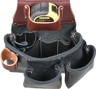 Occidental Leather B5018DBLH 3 Pouch Pro Tool Bag - Black, Left Handed