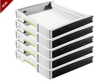 Festool 500767 SYS-AZ Pull-Out Systainer Drawer for SysPorts - 5-Pack