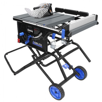 Delta 36 6020 10 Portable Table Saw W Folding Stand And Wheels