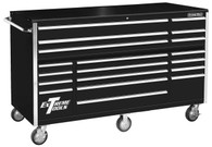 Extreme Tools RX722519RCBK 72 In. 19 Drawer Roller Cabinet - Black