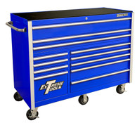 Extreme Tools RX552512RCBL 55 In 12 Drawer Roller Cabinet - Blue