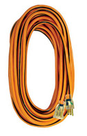 Voltec 05-00343 100-Ft 14/3 SJTW Outdoor Extension Cord  with Lighted Ends stay flexible and are UL and UL listed.