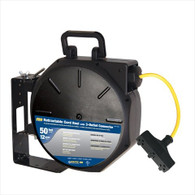 Voltec 07-00284 50 ft. SJTW 3-Outlet Retractable Reel, Outdoor Plug