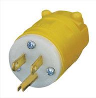 Voltec 12-00225YL  Leviton 1447 Yellow Industrial Grade 5-15P Male Extension Cord Replacement Head
