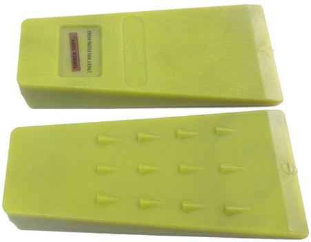 """Timber Tuff TMB-05W 5IN Poly Felling Wedge 2PK is made of long lasting, high impact polymers, high vis color. 5"""" is ideal for smaller trees."""