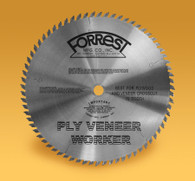 Forrest PVW12707125 12 In x 70 Tooth 1 In Bore Ply Veneer Saw Blade  Cross Cuts On Wood Veneers
