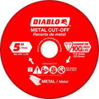 Diablo DDD050DIA101F 5 In Diamond Cut-off Wheel For Metal