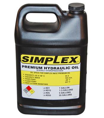 Simplex A01 Hydraulic Oil 1 Gallon