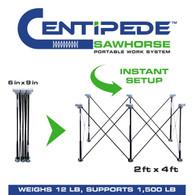Centipede Tool K100 6 Strut Expandable 2 X 4 Portable Sawhorse Work System Kit