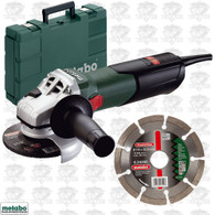 Metabo 600354850 W 9-115 4 1/2IN Angle Grinder with Auto Clutch Set