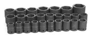 Grey Pneumatic 8026M 3/4 in. Metric Socket Set Standard Drive - 26 Pc