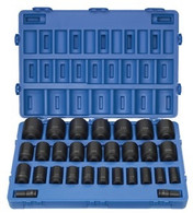 Grey Pneumatic 8029D 29 Piece Fractional Socket Set Deep 3/4 In Drive