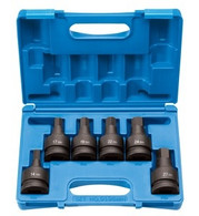 Grey Pneumatic 9196MH Metric Hex Driver Socket Set 1 In Drive, 6 Piece