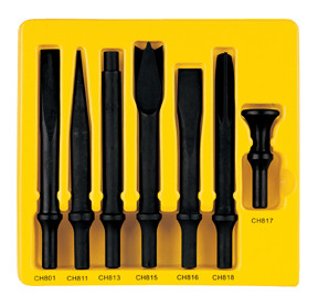 Grey Pneumatic CS807 Impact Impact Chisel .498 Turn-Type Shank (7 Pieces)