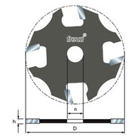"""Freud 4-Wing Slotting Cutter 1/16"""" For 5/16"""" Router Arbor"""