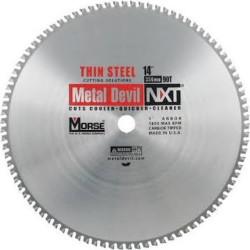 MK Morse 101844 14 in. x 90T Metal Devil NXT Circular Saw Blade - Thin Steel