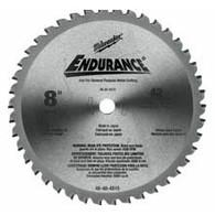 "Milwaukee 8"" 42T Circular Saw Blade For Metal"