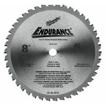 "Milwaukee 8"" 42T Circular Saw Blade For Metal"