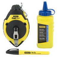 Stanley 47-681L 30M/100' FatMax Chalk Line Reel and Chalk Set