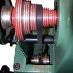 V-belt provides smooth turning