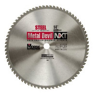 "Morse 101318 14"" x 66T Metal Devil Circular Saw Blade - Steel"