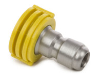 "Forney Industries 75154 Quick Connect Chiseling Spray Nozzle Yellow 15° x 5.5 1/4"" X 15"