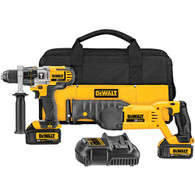 Dewalt DCK292L2 20V MAX Lithium Ion Hammerdrill Recip Saw Combo Kit
