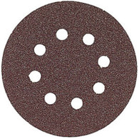 Bosch SR5R320 5 Pack 5 Inch 320 Grit 8 Hole Hook Loop Sanding Discs