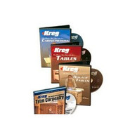 Kreg V08-DVD Deluxe 4 Pack of Pocket Hole Joinery Instructional DVDs