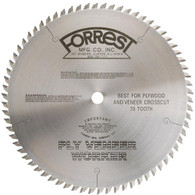 "Forrest PVW10707125 10"" x 70 tooth Ply Veneer Worker Thick Kerf"