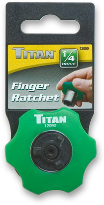 Titan 12090 1/4 Drive Finger Ratchet