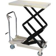 JET 140778 DSLT-770 770 lb Quick-Lift Pump Double Scissors Lift Table