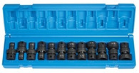 Grey Pneumatic 1212U 3/8 In Standard Fractional Universal Impact Socket Set