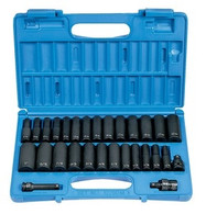 Grey Pneumatic 1229DM 3/8 inch Drive Deep Length Impact Socket Set