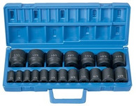 "Grey Pneumatic 1319 1/2"" Drive Standard Fractional Master Socket Set"