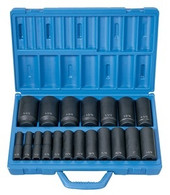 "Grey Pneumatic 1319D 1/2"" Drive Deep Fractional Master Socket Set"