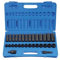 Grey Pneumatic 1430MRD 1/2 In Drive Standard & Deep Metric Socket Set