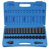 Grey Pneumatic 1430MRD 1/2 In Drive Standard & Deep Metric Socket Set