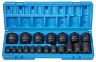 Grey Pneumatic 1719 1/2 inch 12-Point Standard Fractional Master Impact Socket Set