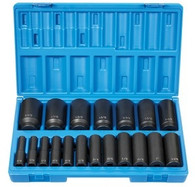 "Grey Pneumatic 1719D 1/2"" Drive 12Pt Deep Fractional Master Socket Set"