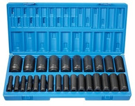"Grey Pneumatic 1726MD 1/2"" Drive 12-Pt Deep Metric Master Socket Set"