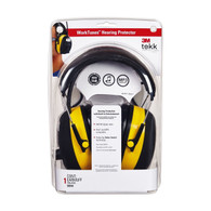 AO Safety 90541 3M WorkTunes Hearing Protector MP3 Compat AM/FM Tuner