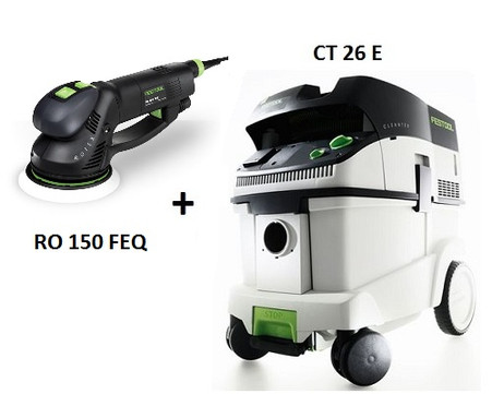 festool p26571810 ct 26 e ro 150 feq sander package deal w. Black Bedroom Furniture Sets. Home Design Ideas
