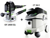 Festool P26574267 CT 26 E/OF 1400 EQ Package Deal