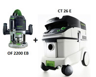 Festool P26574277 CT 26 E/OF 2200 EB Package Deal
