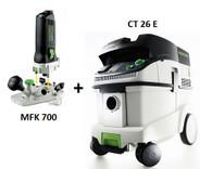 Festool CT 26 E/MFK 700 EQ Set Package Deal