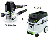 Festool P36574267 CT 36 E/OF 1400 EQ Package Deal